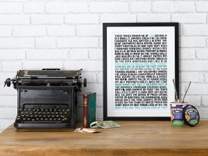 Personalised Remind Me of You Print, £38