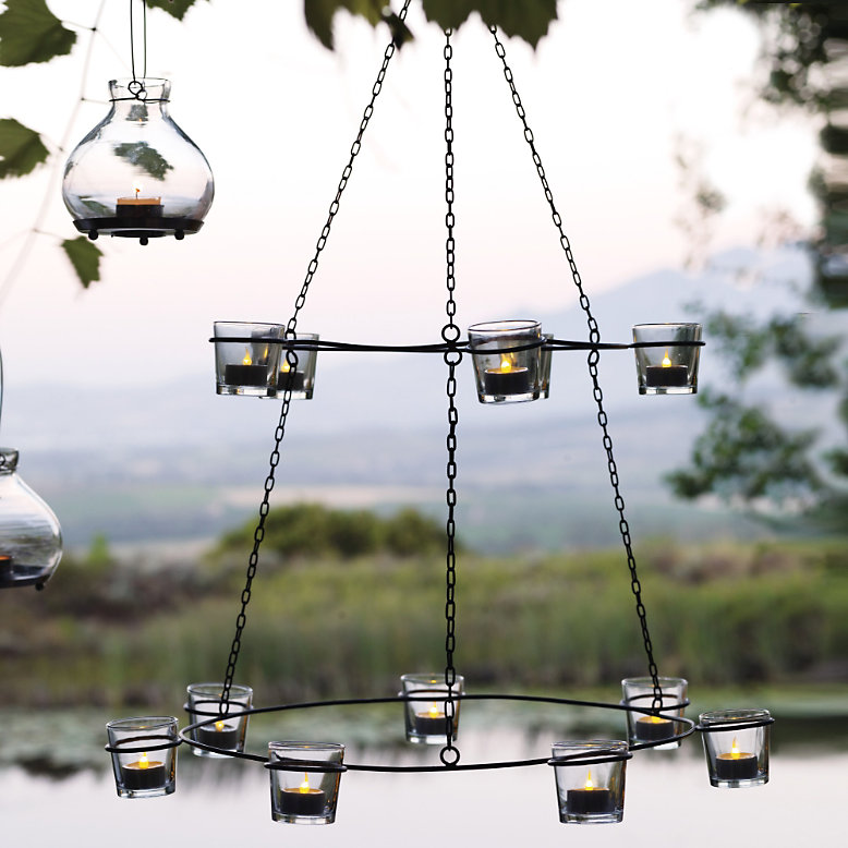 Hanging T Light Holders Part - 41: Tiered Hanging Tea Light Holder. The White Company
