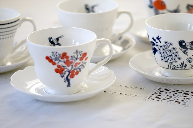 Louise Wilkinson Cups and Saucers