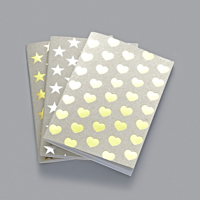 alfred and wilde hearts and stars notebooks