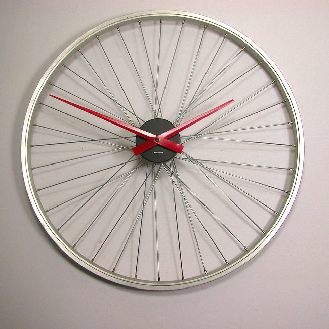 home accessories bicycle wall clock by vyconic