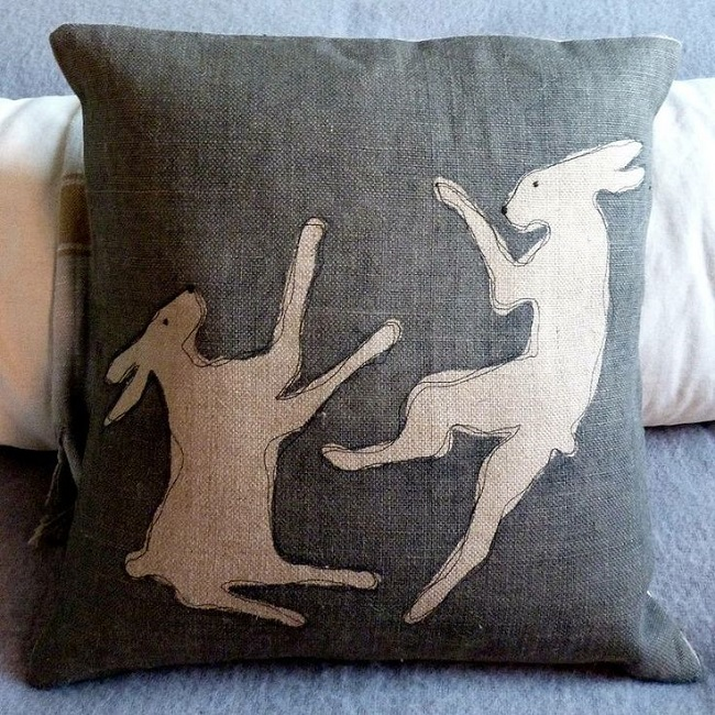 home accessories tumbling hare cushoin