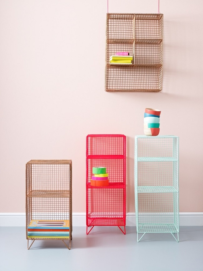 home office storage solutions grid wire shelving units