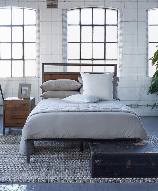 Industrial style bedroom furniture loft style bed for Looking for bedroom furniture