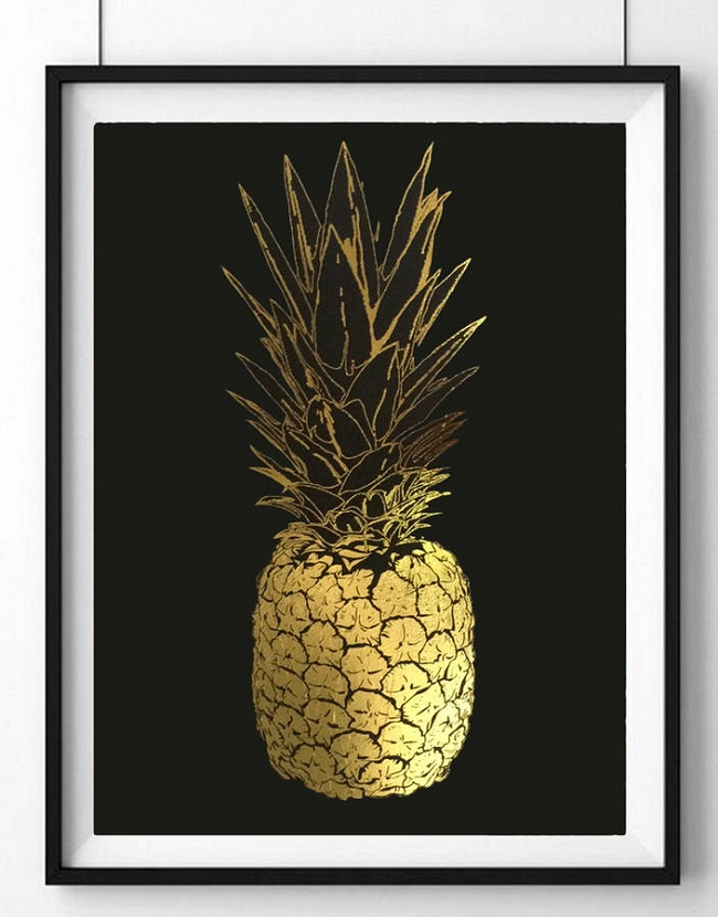 pineapple home accessories art