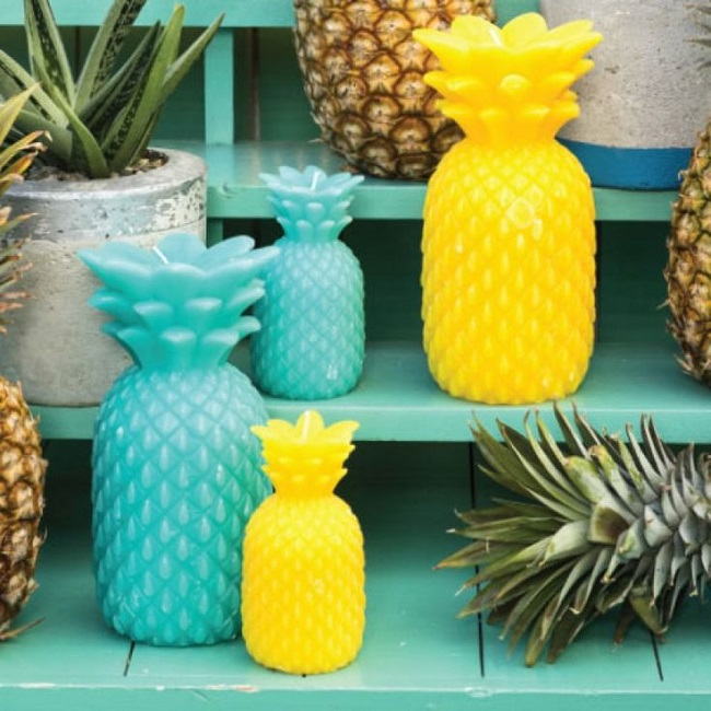 pineapple home accessories candles