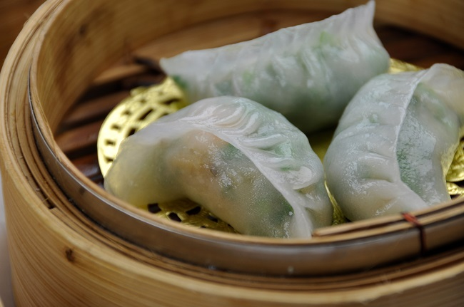 royal china restaurant, prawn and chive dumplings