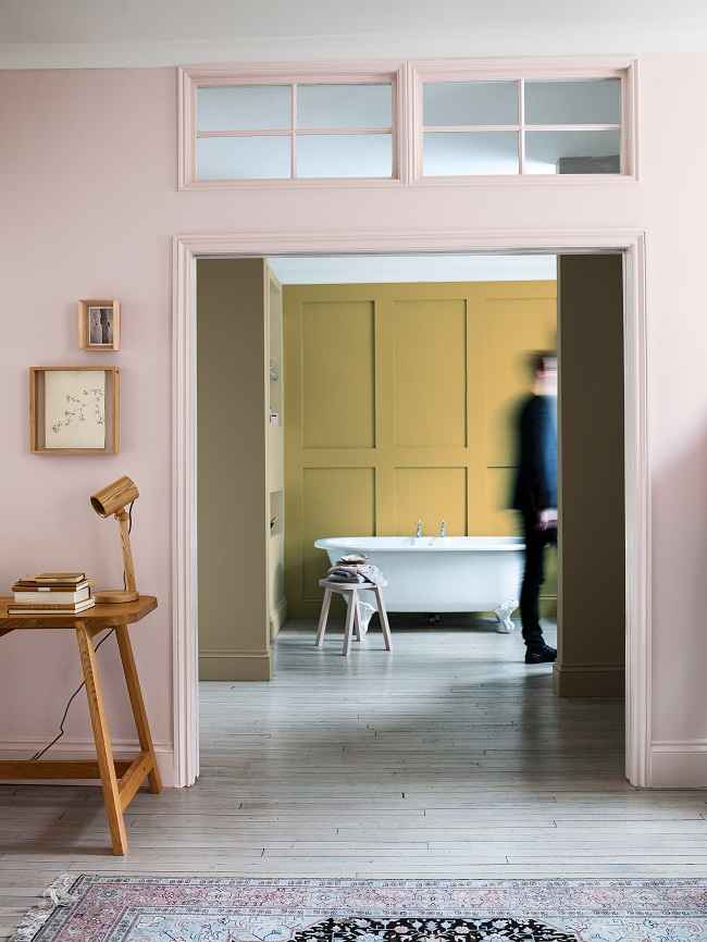 dulux colour charts, cherished gold, connecting rooms