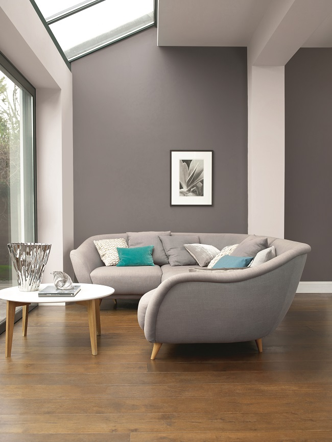 grey room decorating ideas, dulux monument grey living room