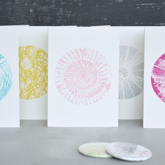 lonetree luxury stationery, nature in the round blank cards