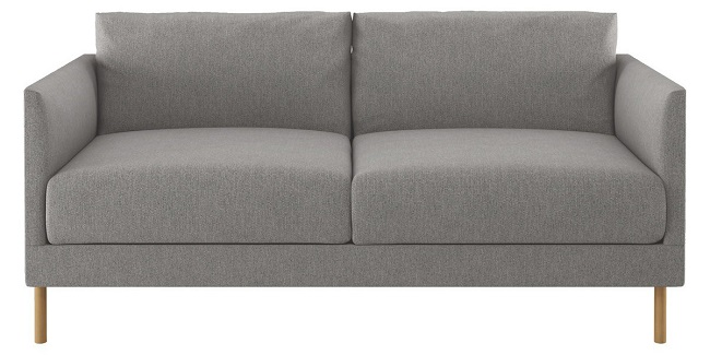 two seater grey fabric sofas, hyde