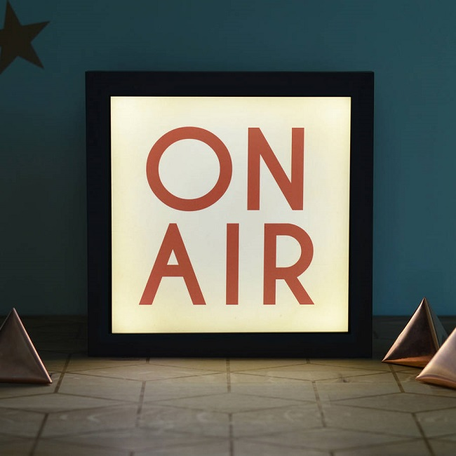 on air illuminated light box