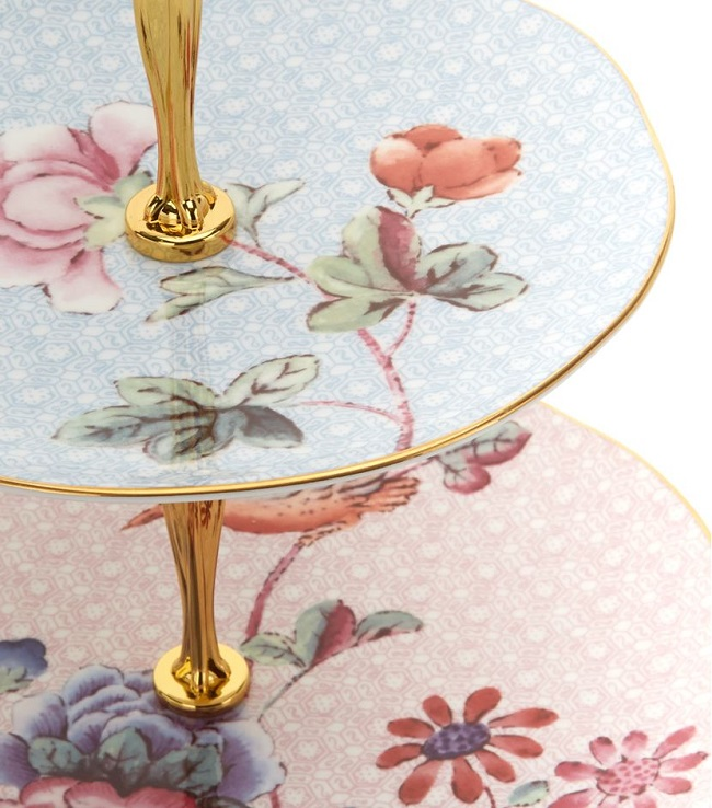 floral cake stands from wedgwood