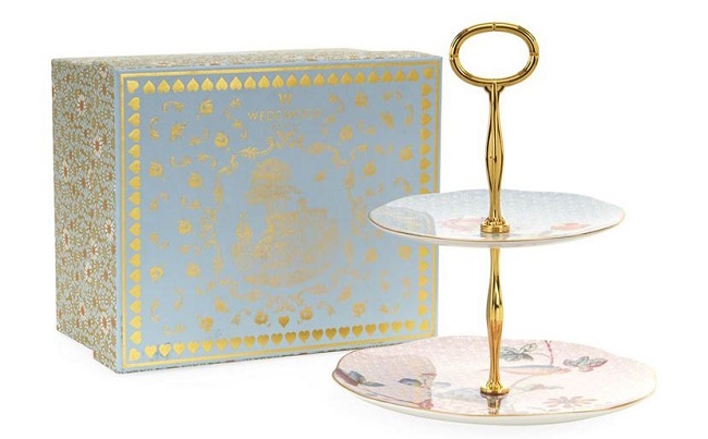 floral cake stands wedgwood
