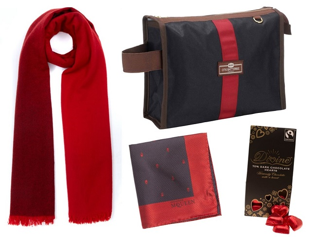 red valentine gift ideas for him, liberty london