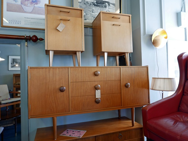 gonnermann mid century modern furniture shop, sideboard, bedside cabinets