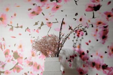 pretty pink floral wallpaper