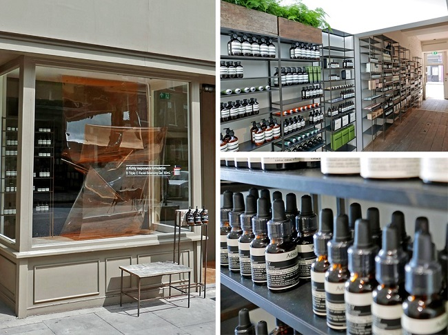london beauty shops, aesop cross street