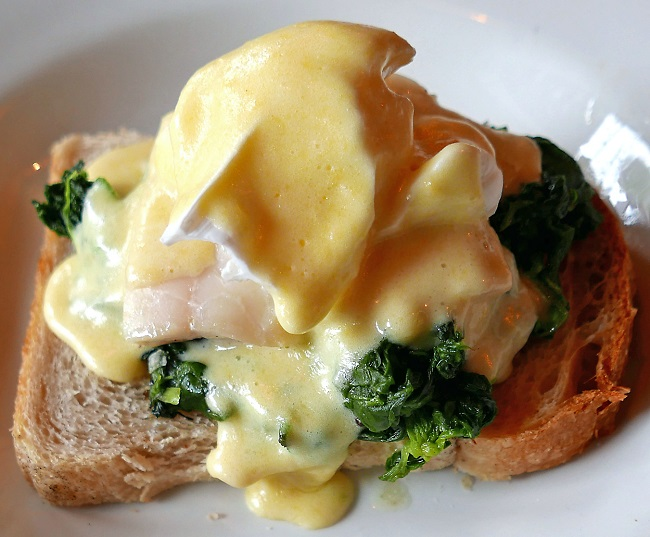 the cut bar, young vic theatre, haddock, poached egg, hollandaise