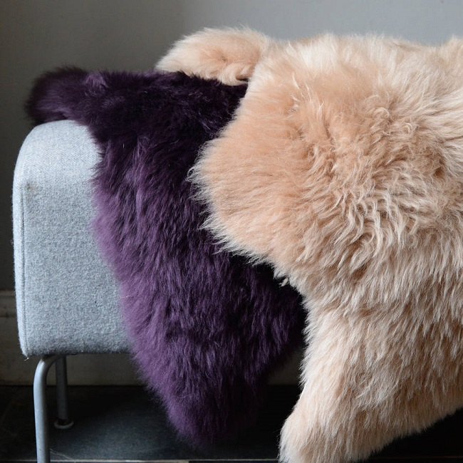 hand dyed sheepskin rugs, the forest and co