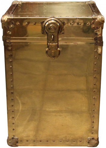 brass box table vintage storage trunks