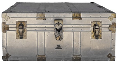 japanese aluminium vintage storage trunks