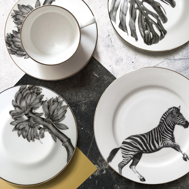 sasha tugolukova, monochrome tableware selection