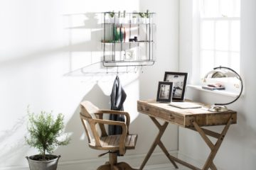 vintage industrial home office ideas featured image