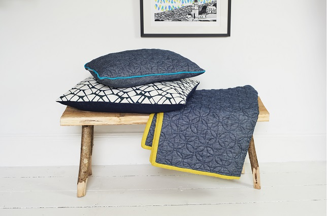 georgia bosson cushions with quilt