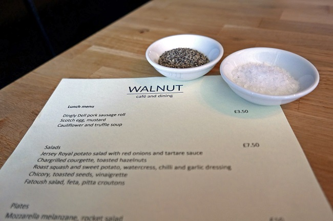 walnut cafe and dining, menu