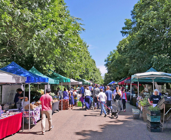 alexandra palace farmers market, the market