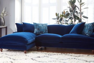 blue velvet living room ideas featured image