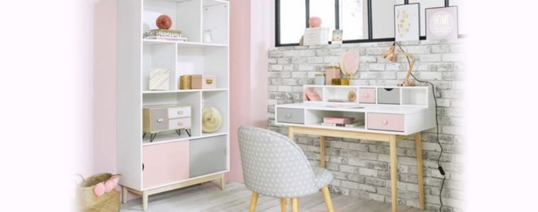 adorable pink home office ideas featured image