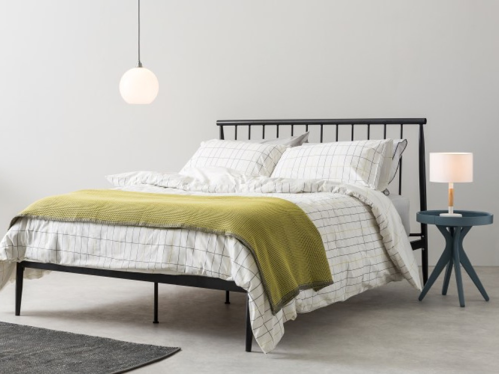 industrial style king size black metal bed frames featured image