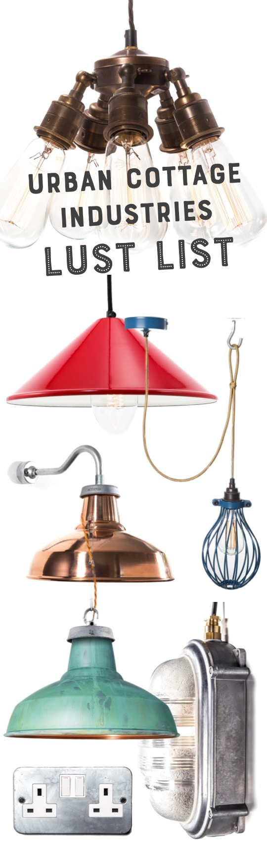 urban cottage industries industrial lighting shop review mood board