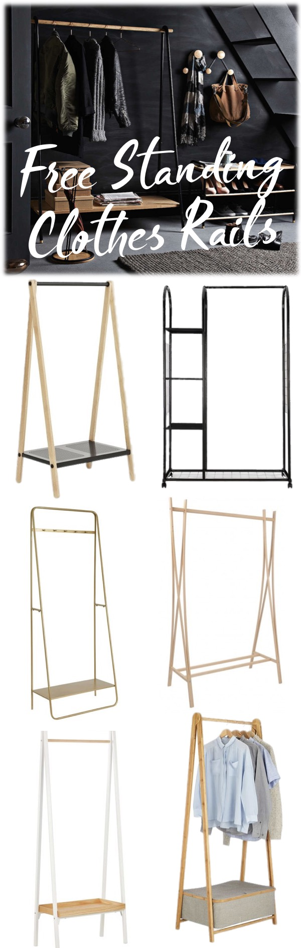 fabulous free standing clothes rails mood board