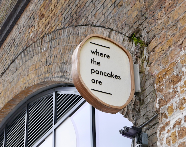 where the pancakes are flat iron square signage