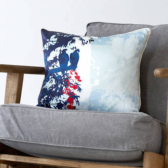 staging your home to sell ideas blue tropical cushion