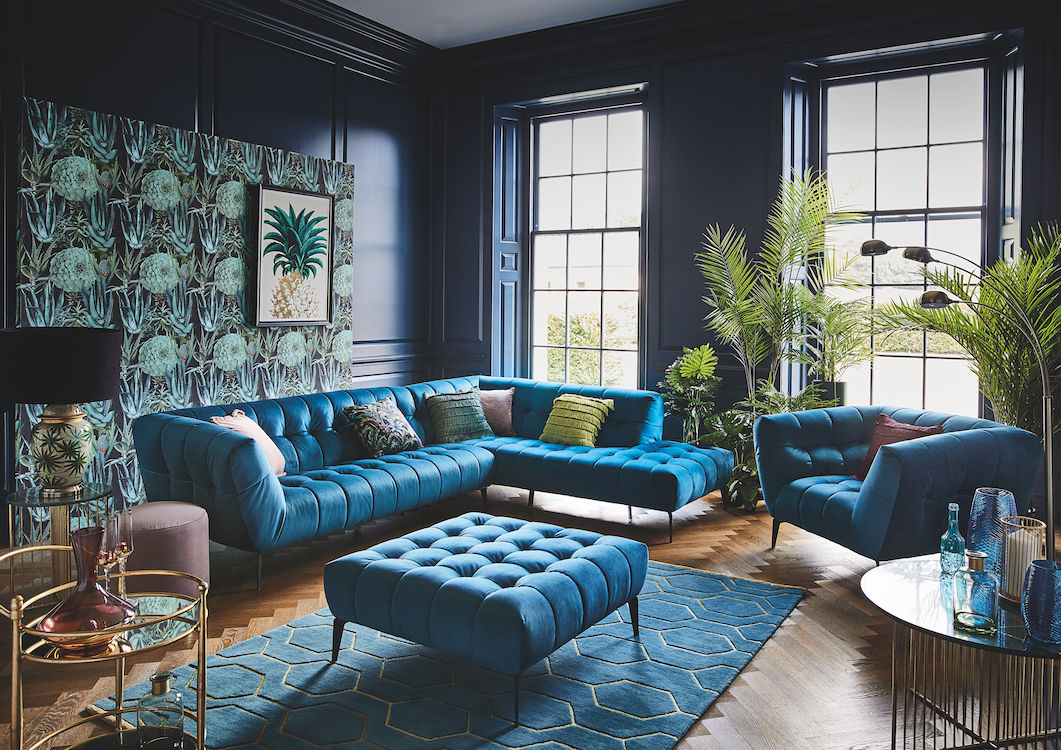 Glam Gold and Teal Living Room Ideas