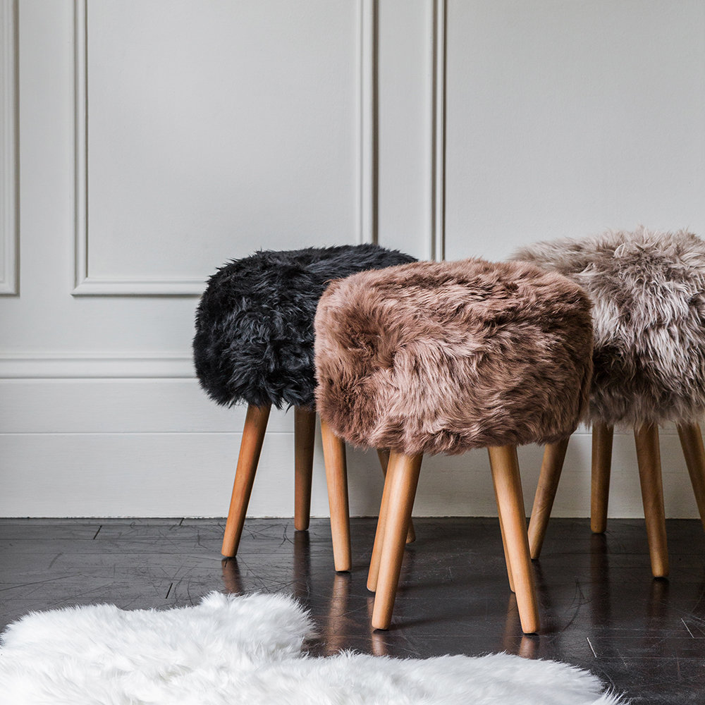 london show home staging services, amara sheepskin stool