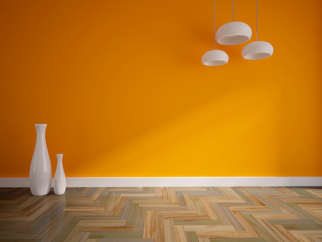 super stylish made to measure skirting boards, orange walls