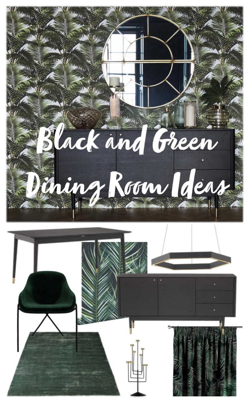 black and green dining room ideas mood boards
