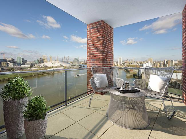 east london first time buyer event new union wharf balcony