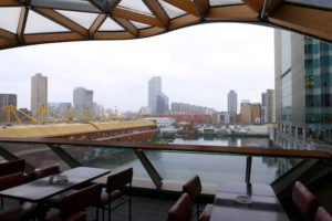 ten things to do in canary wharf london, view from giant robot food hall