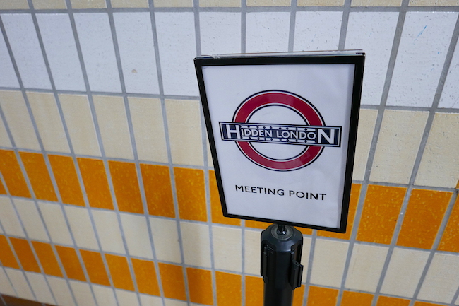 charing cross station tour accesses all areas, meeting point