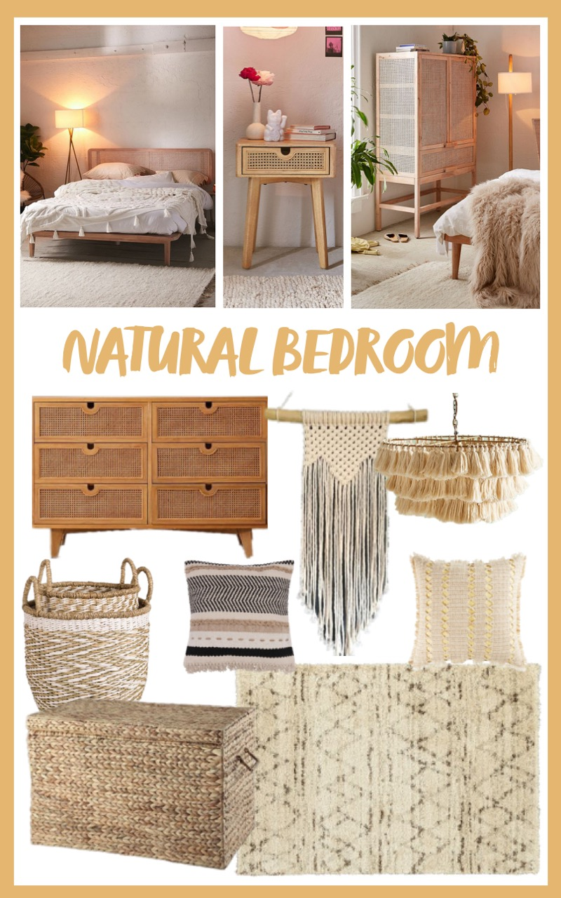 laid back luxe natural bedroom ideas mood board