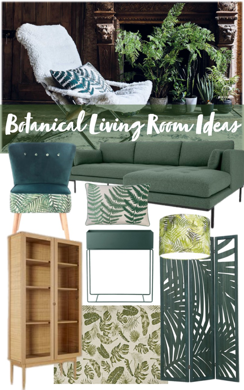 beautiful botanical living room ideas mood board