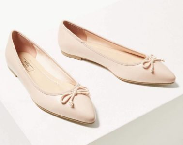 super cute nude pink ballet pumps featured image