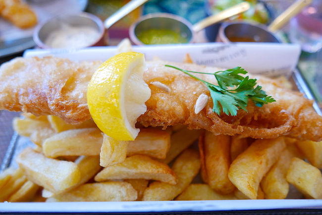 the mayfair chippy aldgate london, classic fish and chips