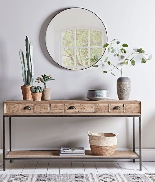 ten ways to display your plants at home, hallway console table